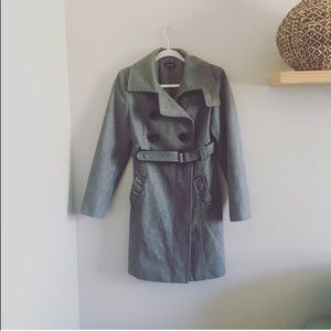 NWOT Bebe heather grey Trench pea coat | S